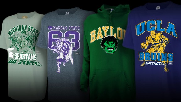 Marvel Set to Release College Apparel - SuperHeroHype