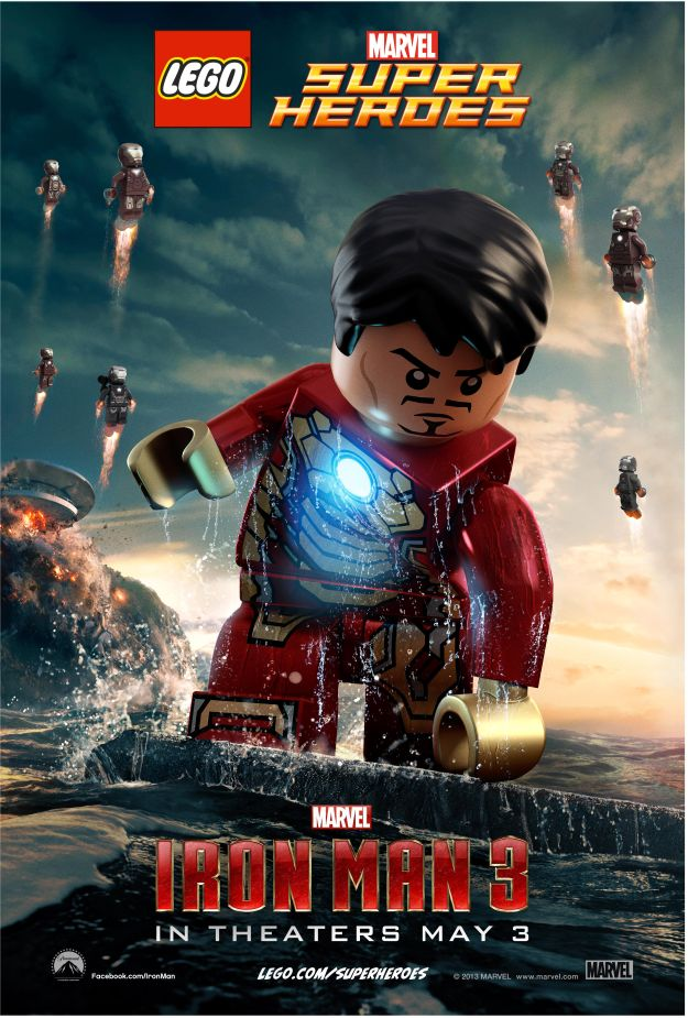 Lego versions of iron man 3 posters now online superherohype click on the images for the bigger versions in the gallery voltagebd Gallery