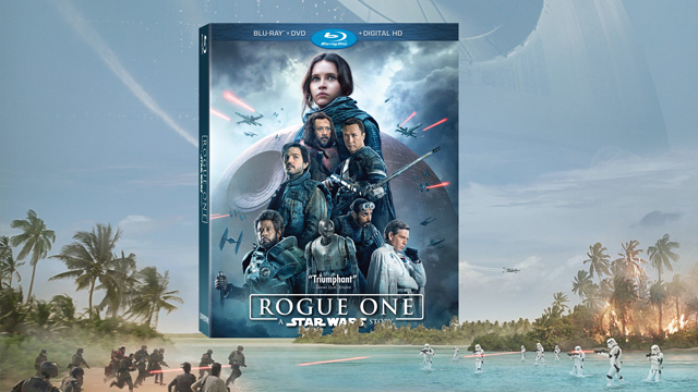 Walt Disney Pictures and Lucasfilm have today revealed that the Rogue One Blu-ray and DVD will arrive April 4, first hitting Digital HD on March 24.