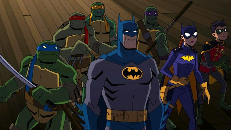 Suit Up In New Batman vs. Teenage Mutant Ninja Turtles Clips