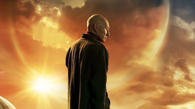 Patrick Stewart Has A Dog Friend On 'Picard' Poster