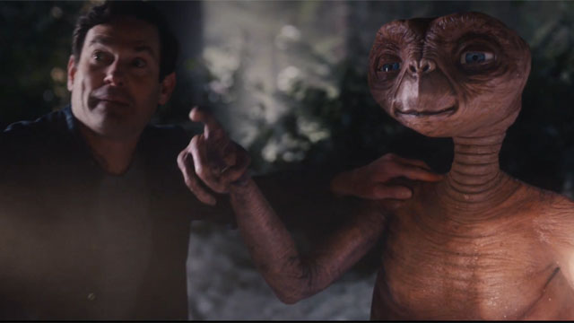 E.T. and Elliott Reunite in an Xfinity Commercial for the Holidays