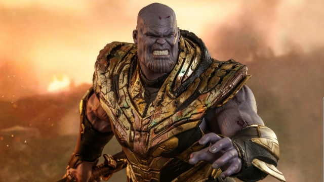 Hot Toys Battle-Damaged Thanos Makes Us Snap to Attention