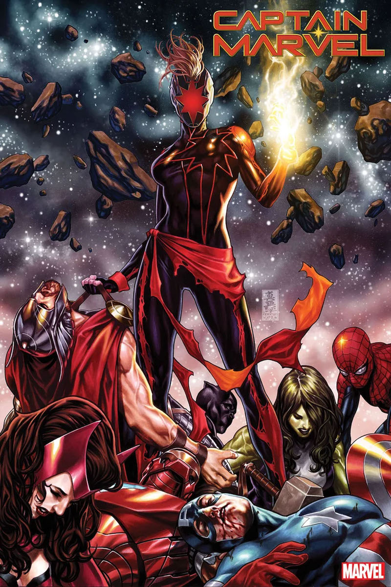Captain Marvel #12 Cover by Mark Brooks