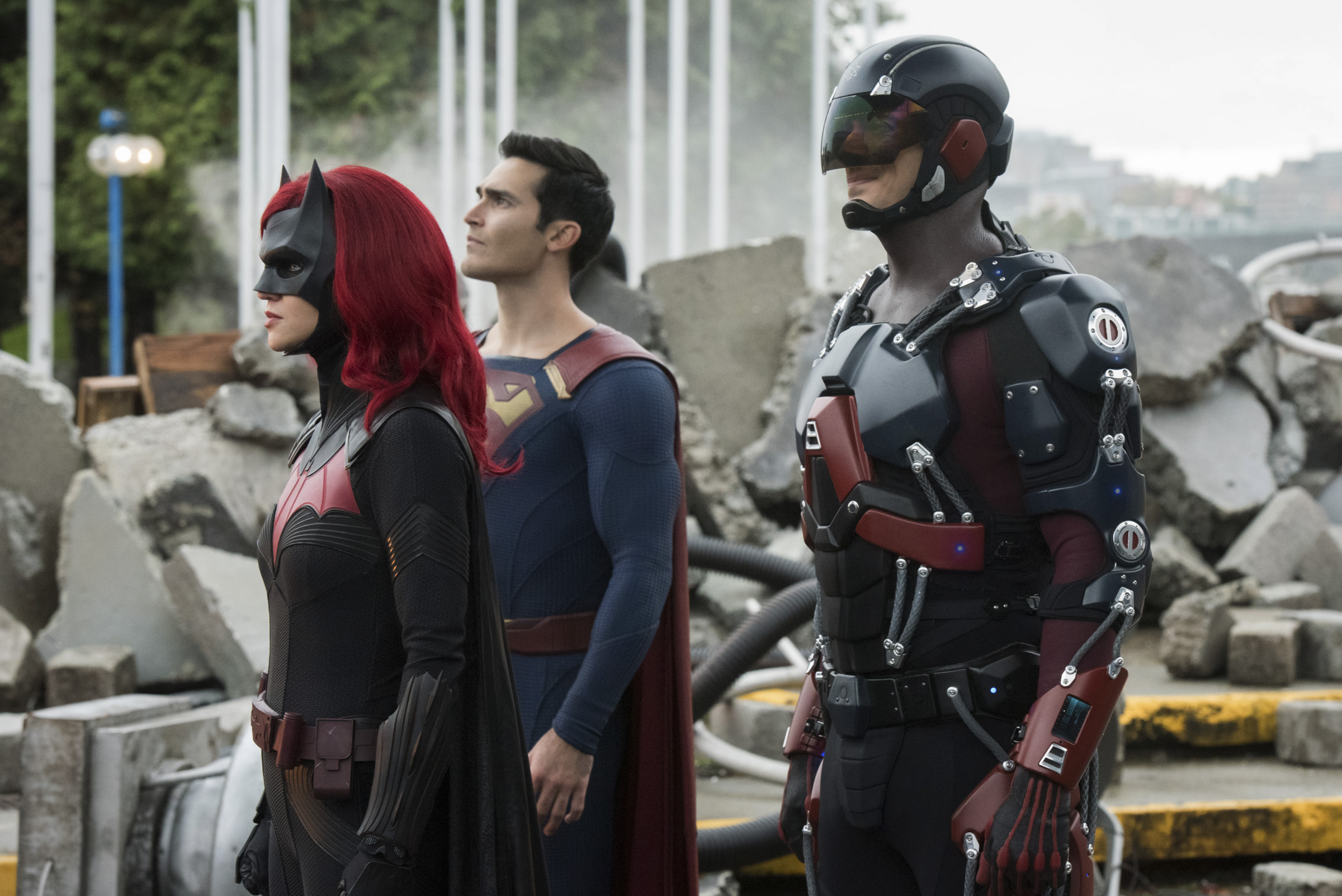 Batwoman, Superman, and the Atom