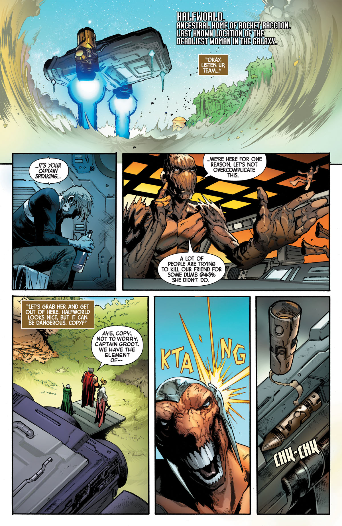 Guardians of the Galaxy #4 page 1