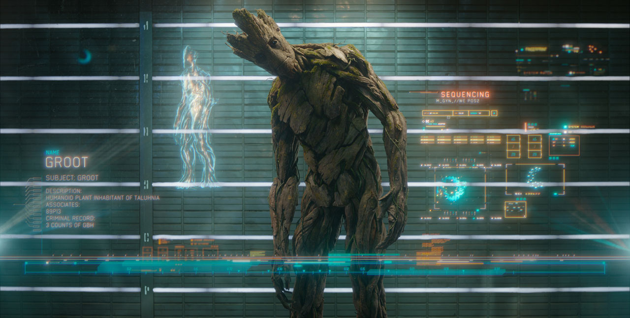 Marvel's Guardians Of The Galaxy  Groot (voiced by Vin Diesel)  Ph: Film Frame  ©Marvel 2014