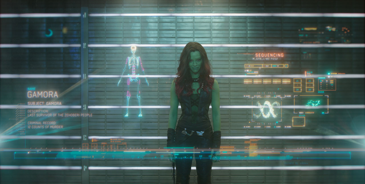 Marvel's Guardians Of The Galaxy Gamora (Zoe Saldana) Ph: Film Frame ©Marvel 2014