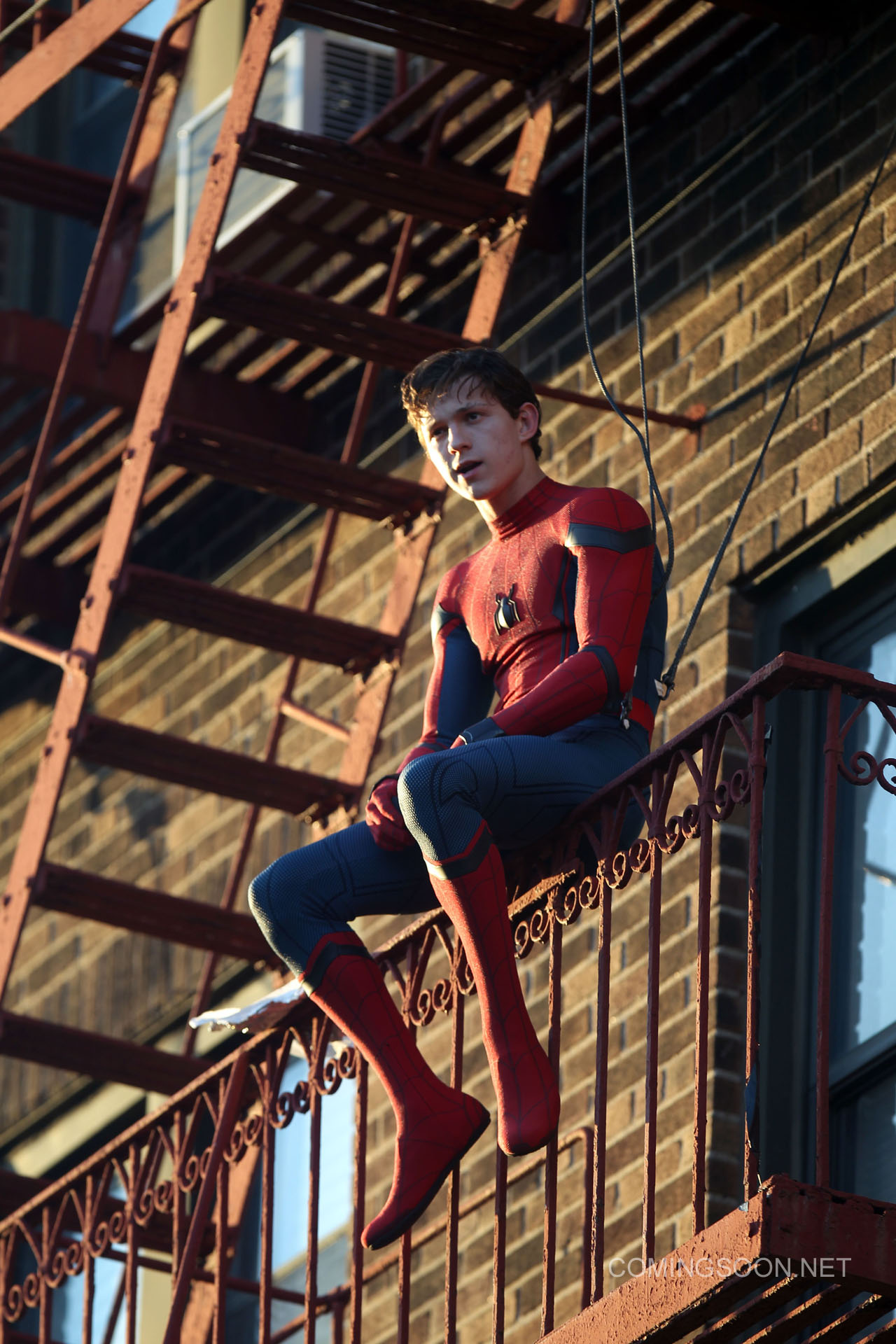 new photos from the spider man filming in new york