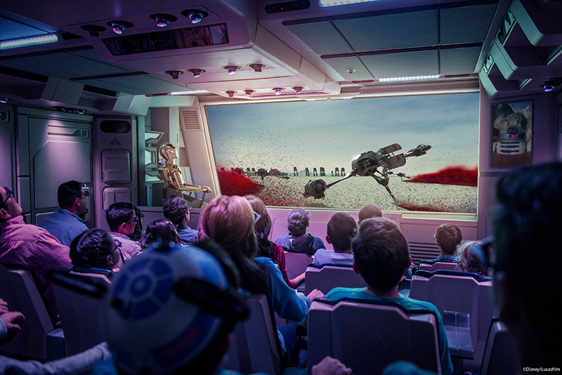 Star Tours Last Jedi extension